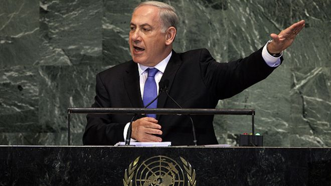 "Israeli Prime Minister Benjamin Netanyahu, in a dramatic speech to the United Nations, employed a simple diagram to hammer home his plea to the international community to set a ""clear red line"" over Iran's nuclear program -- warning that a nuclear-armed Iran would be tantamount to a nuclear-armed Al Qaeda. Netanyahu's address before the U.N. General Assembly amounted to an appeal to the U.S. and other nations to join Israel in drawing a line that Iran cannot cross without risking a military…"