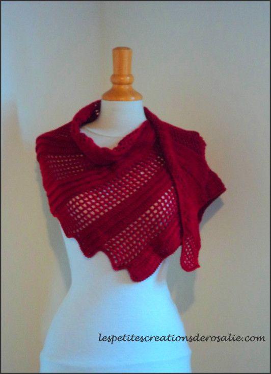 Châle Lizard! crochet, facile, diagramme, explications en rangs (tricot, crochet, laine, yarn, wool, knitt, knitting)