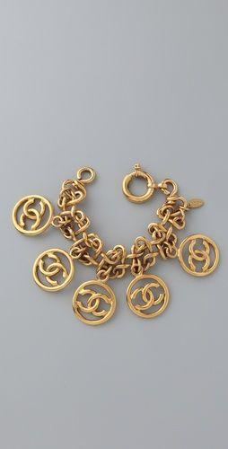 vintage chanel charm bracelet. omg