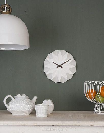 Zegar ścienny Origami ceramic matt soft pink