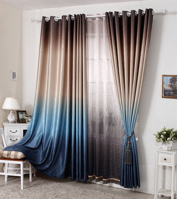 New 2015 hot Double-sided printing modern curtains for living room jacquard cortina blackout Free shipping 005