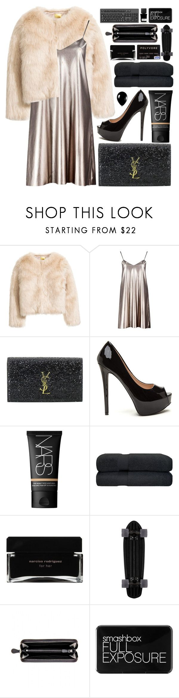 """new years eve party"" by charli-oakeby ❤ liked on Polyvore featuring Boohoo, Yves Saint Laurent, NARS Cosmetics, Alexander McQueen, Narciso Rodriguez, Bottega Veneta, Smashbox and MiN New York"