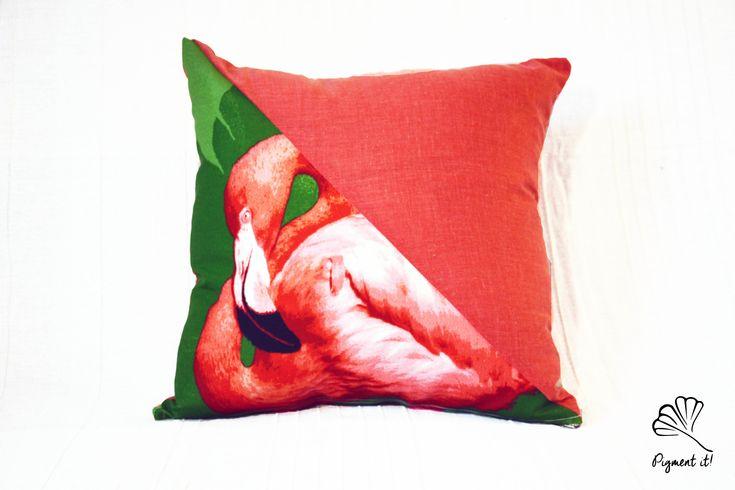 Housse, Coussin - Flamant Rose - Flamingo- Pillow - Pink - Home Deco - Kids-  de la boutique Pigment it! sur Etsy