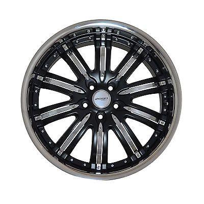 4 GWG Wheels 20 inch Matt Black NARSIS Rims fits MITSUBISHI LANCER GT - GTS 2008