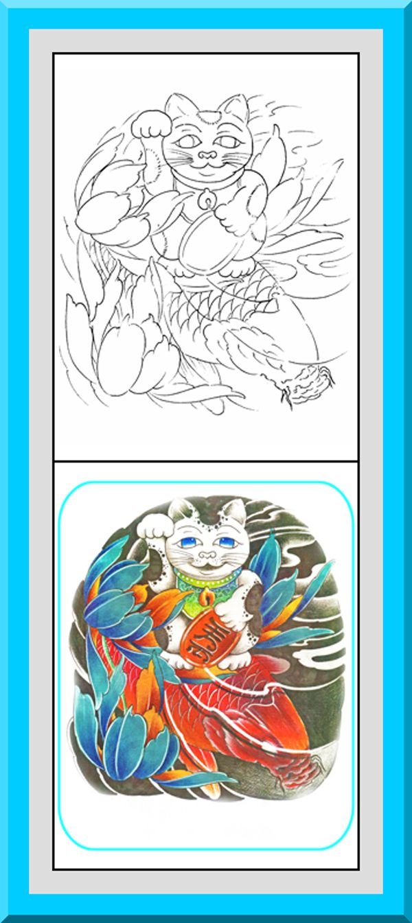 Free printable japanese coloring pages for adults - Printable Japanese Style Coloring Pages 30 High Definition Coloring Pages Black Outlines With Colored Examples