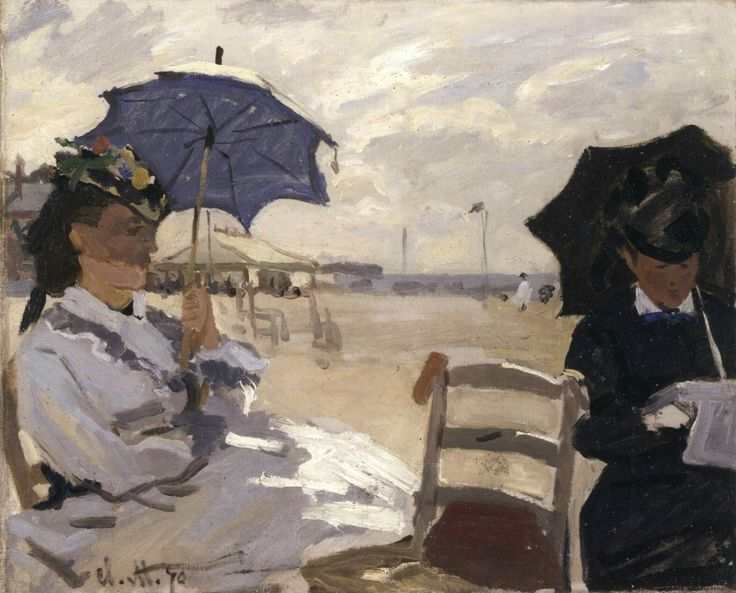 The Beach at Trouville 1870 Oil on canvas, 38 x 47 cm National Gallery, London