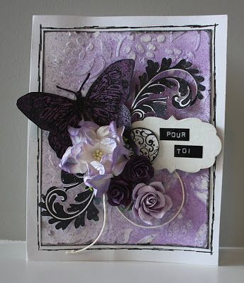 Purple card by Josée Gingras - DT Magenta
