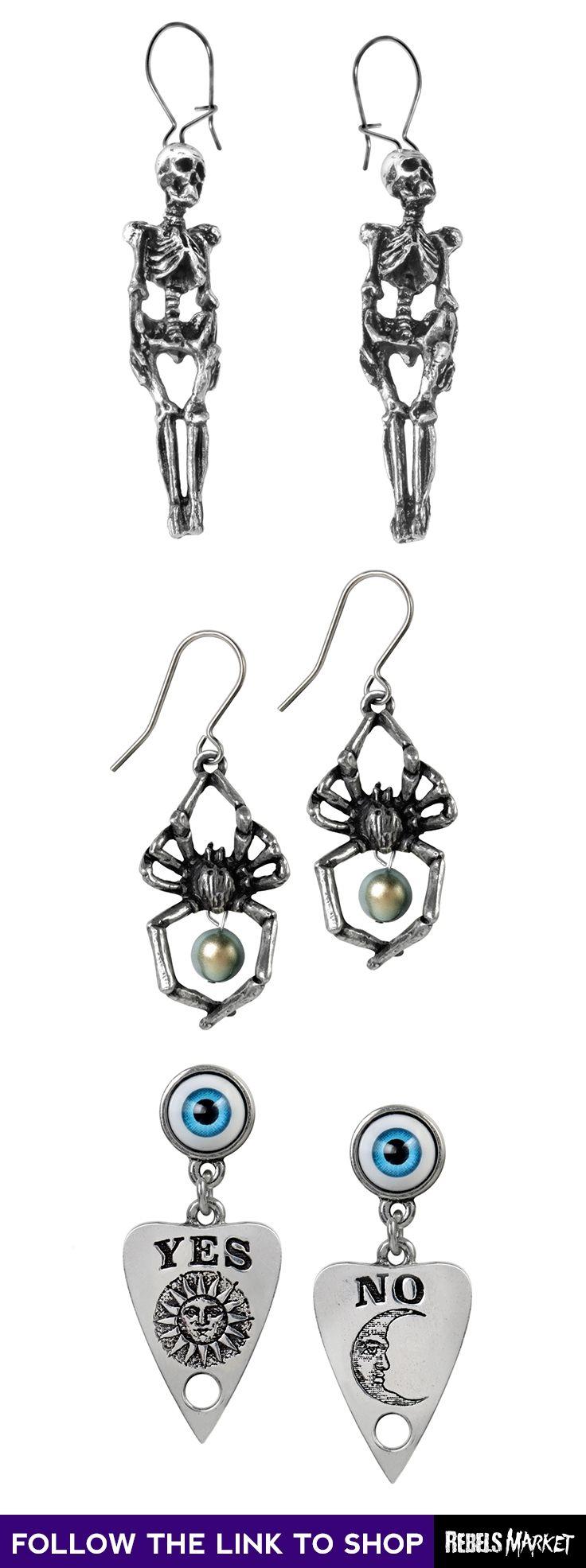 Shop gothic steampunk earrings online at RebelsMarket.