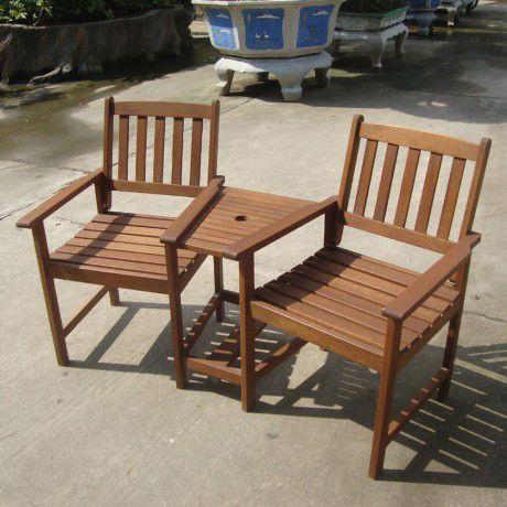 Garden Furniture World Essentials Wooden Companion Seat