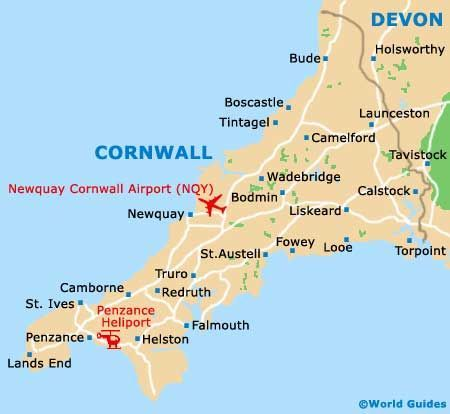 Image result for map of cornwall