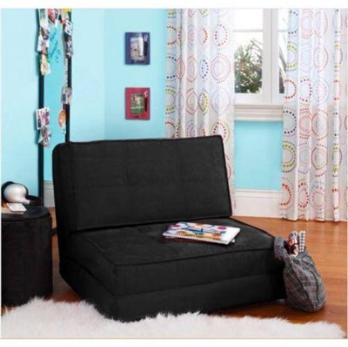 Your Zone Flip Chair Sleeping Floor Mat Guest Bed Portable Mattress Black
