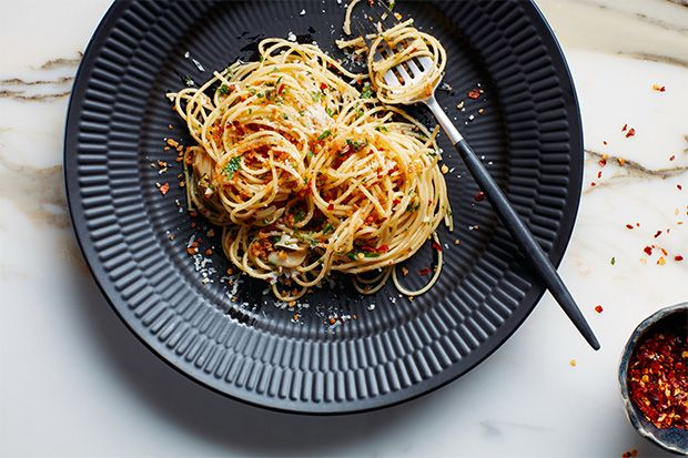 Find the recipe for Pasta with 15-Minute Garlic, Oil, and Anchovy Sauce  and other anchovy recipes at Epicurious.com