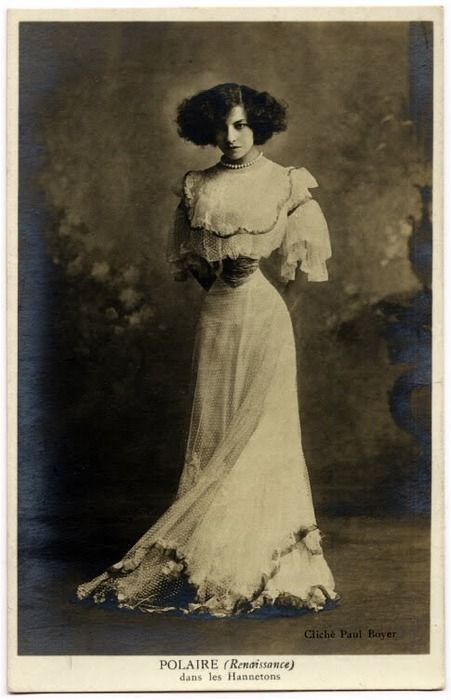 Paul Boyer :: French singer and actress Émilie Marie Bouchaud (May 14, 1874 – October 14, 1939). Polaire wore her hair short, unusual in women before the 1920's