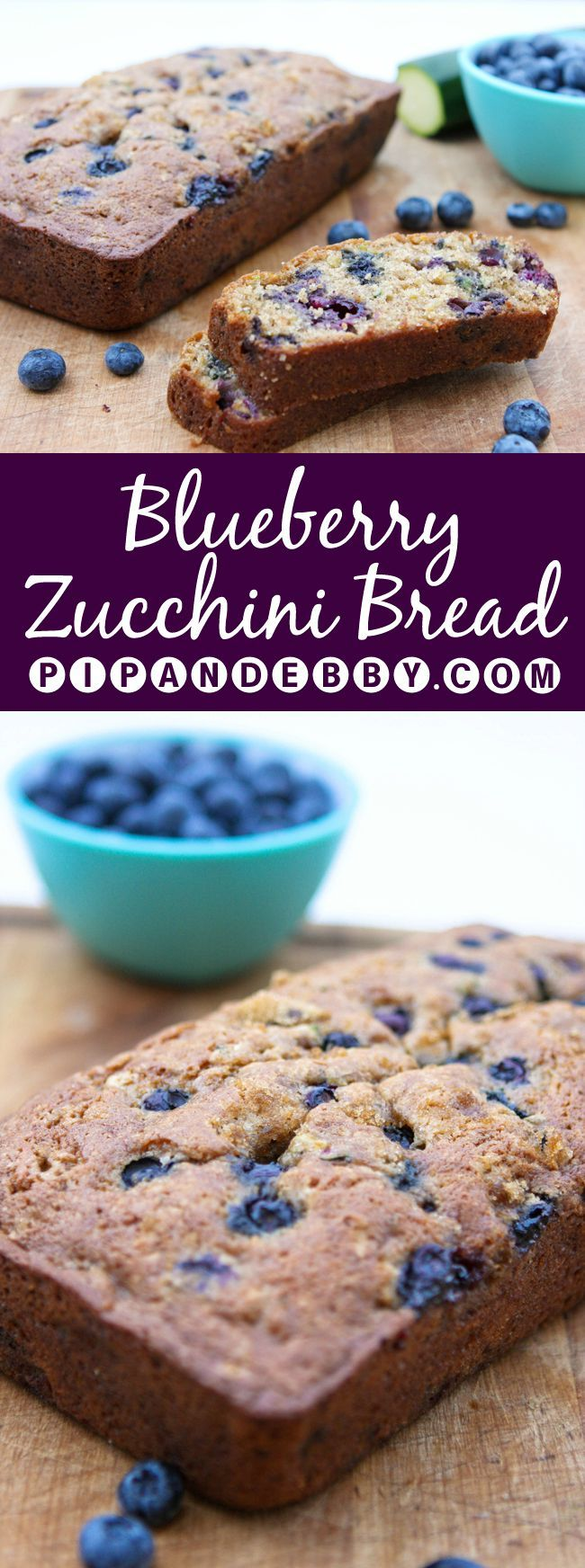 Blueberry Zucchini Bread | This is such a great way to use up zucchini! This bread is moist and delicious beyond your wildest dreams.. :)