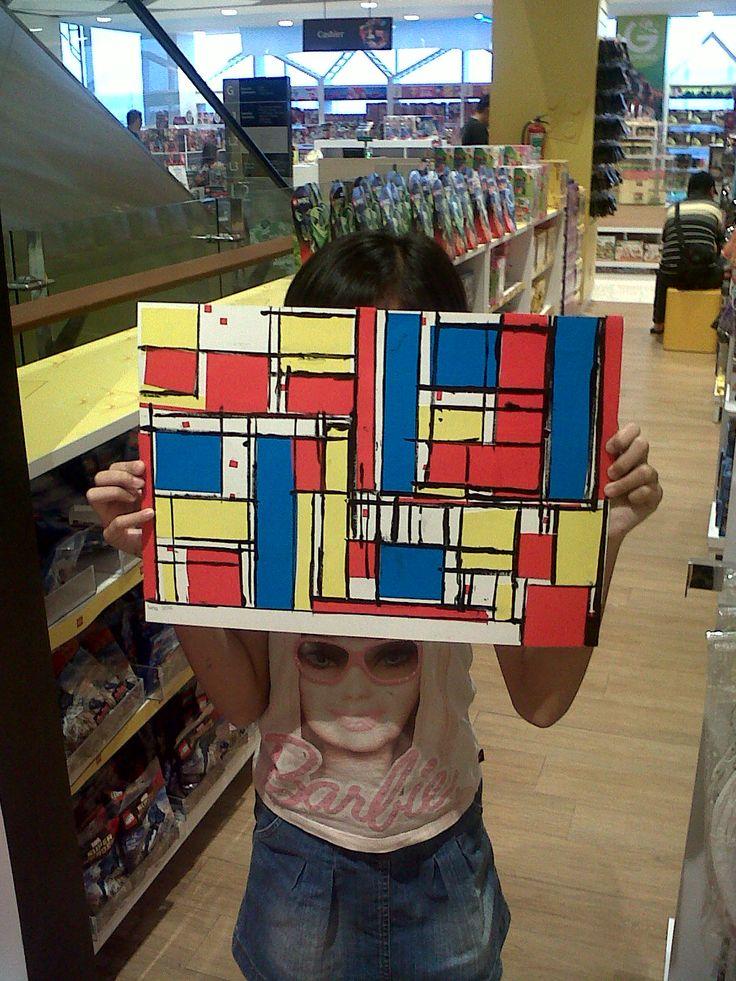 Maeluna Quinteva - Piet Mondrian - Mondrian Style @Gramedia Kids Emerald Bintaro