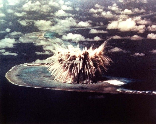 Redwing Seminole nuclear test, Bokon Island, Enewetak Atoll. June 6, 1956