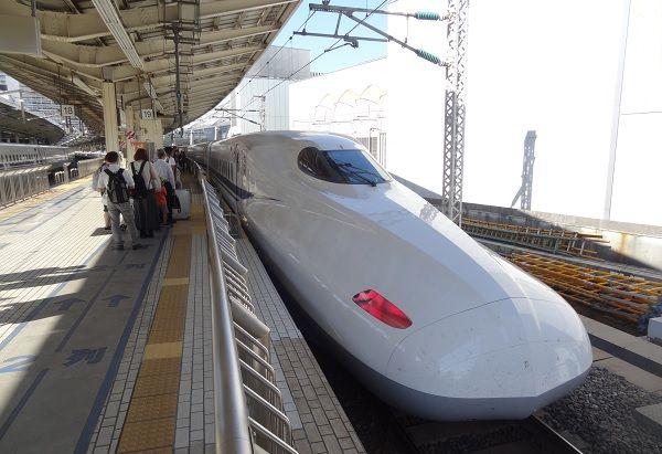 Hop the Noizomi Shinkansen from Tokyo to Kyoto.