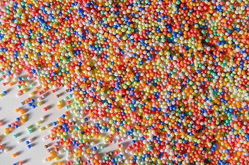 Spherical sprinkles.