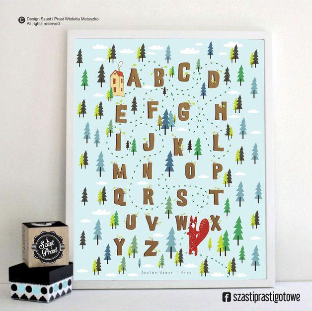 Alfabet leśny MAŁY - Szast-i-Prast - Plakaty dla dzieci