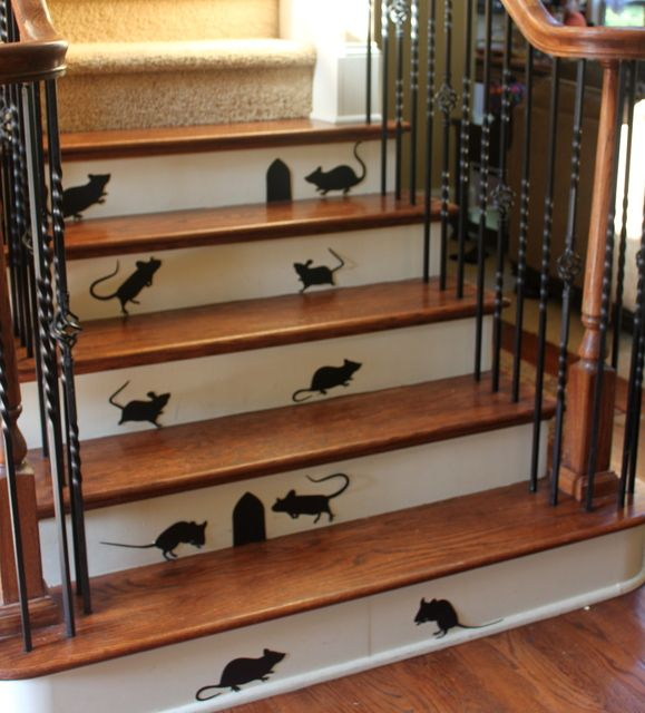 Mouse shadows for Halloween Decorations #halloween #decorations