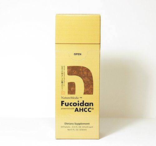 NatureMedic Fucoidan AHCC 10 liquid packetsbox Made in Japan ** Click on the image for additional details.
