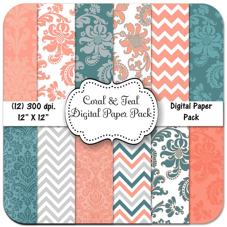 teal and coral wedding - ideas for table runners