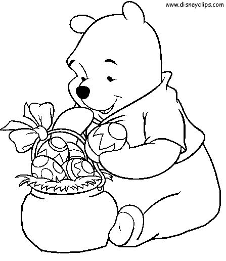 Disney Easter Coloring Pages Holidays Pinterest