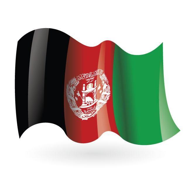 Afghanistan Wavy Flag Vector Bandera De Afganistan Banderas