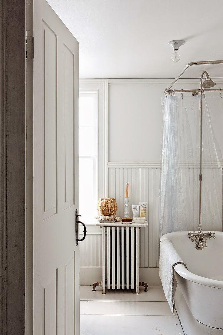 bathroom with coil heater.