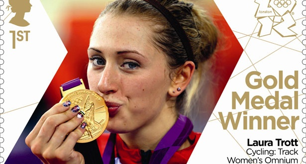 Team GB's Olympic stamps - Laura Trott