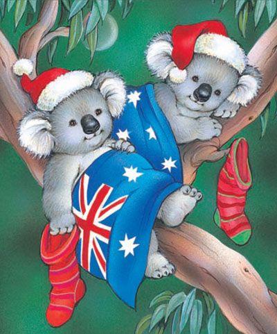 Koala Christmas card