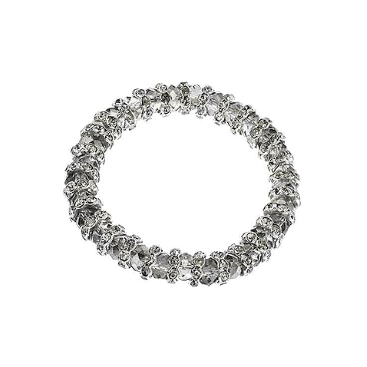 Jeminee #Jewellery Jasmine Silver-tone #bracelet with Swarovski stardust design to add sparkle to your #OOTD | #Fashion #Style #GiftforHer