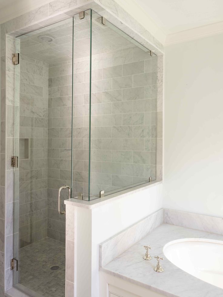 25 Best Ideas About Half Wall Shower On Pinterest Bathroom Showers Open Showers And Open