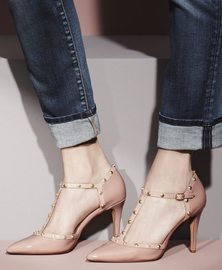 These pink patent pumps are everything.