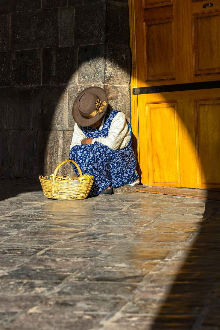FINEARTSEEN - View Cusco Street Seller (Peru) by Ben Robson Hull.  A beautiful photograph of a classic South American street scene. Limited edition of 100. Available on FineArtSeen - The Home Of Original Art. Enjoy Free Delivery with every order. << Pin For Later >>