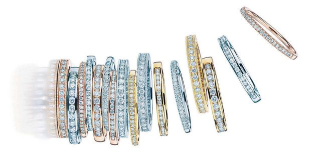 What looks better than one diamond ring? An entire stack of them.
