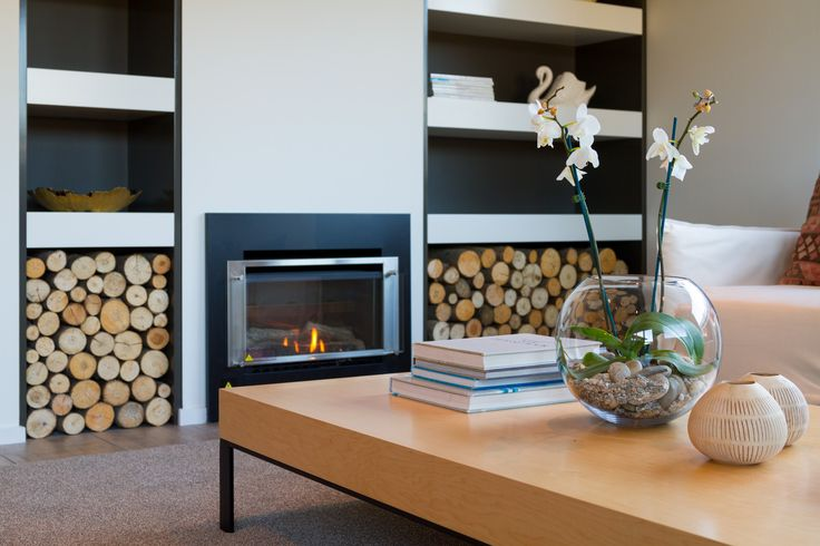 Settle in and enjoy this intimate modern fireplace setting.