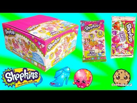Unboxing 3 Shopkins Box Fun Packs & Collector Cards with Limited Editions & Minecraft Blind Bag - YouTube From Cookie Swirl C