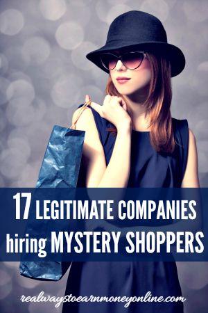 Legitimate mystery shopper website?