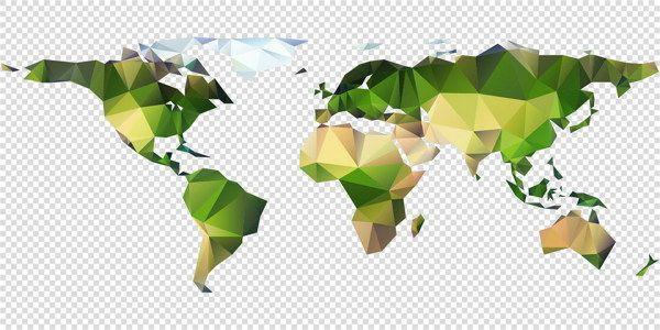 Vector Polygon World Map on Behance