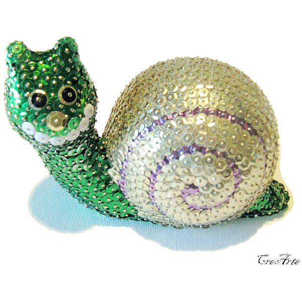 Sequin Ornament, Sequined Snail, Colorful Sequined Ornament, Lumaca... (81 PLN) via Polyvore featuring home, home decor, holiday decorations, joy ornament, colorful ornaments, handmade ornaments, colorful home decor i hand made ornaments