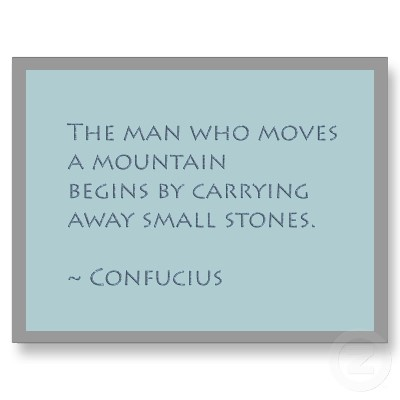 The Man Who Moves a Mountain Confucius