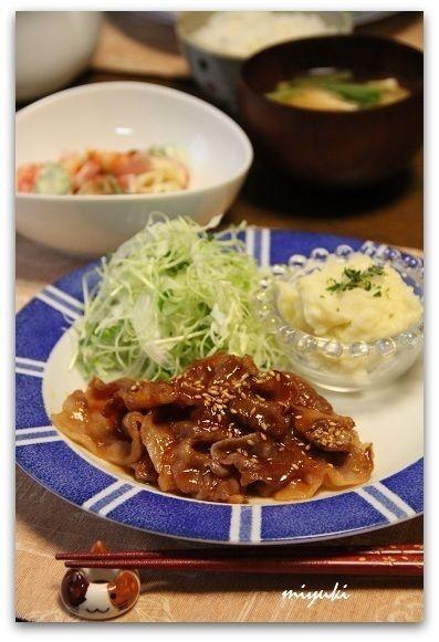 ポークチャップはちみつ焼きとクリーミーなマッシュポテト by miyuki ...