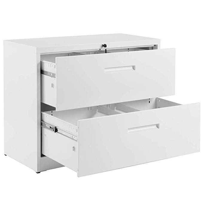 2 Drawer White Lateral File Cabinet Lockable Heavy Duty Metal File Cabinet Lateral With 2 Drawers Whi Filing Cabinet Metal Filing Cabinet Lateral File Cabinet
