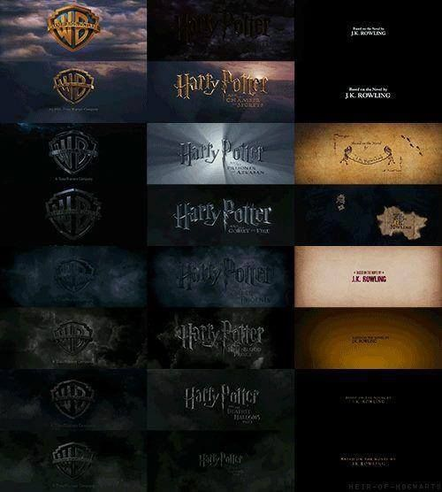 Harry Potter Book Titles ~ Harry potter opening credits warner bros logo along