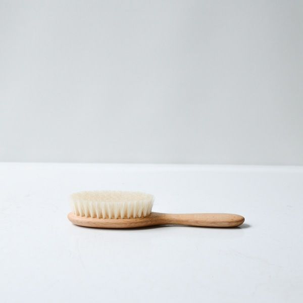 Natural oiled beachwood and soft goat hair make this brush perfect for a child's fine hair.  Made in Germany by Redecker