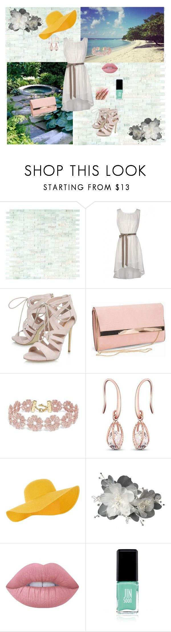 """Beach"" by camiah-mattocks ❤ liked on Polyvore featuring WALL, Carvela, New Look, BaubleBar, Accessorize, Lime Crime and Jin Soon"
