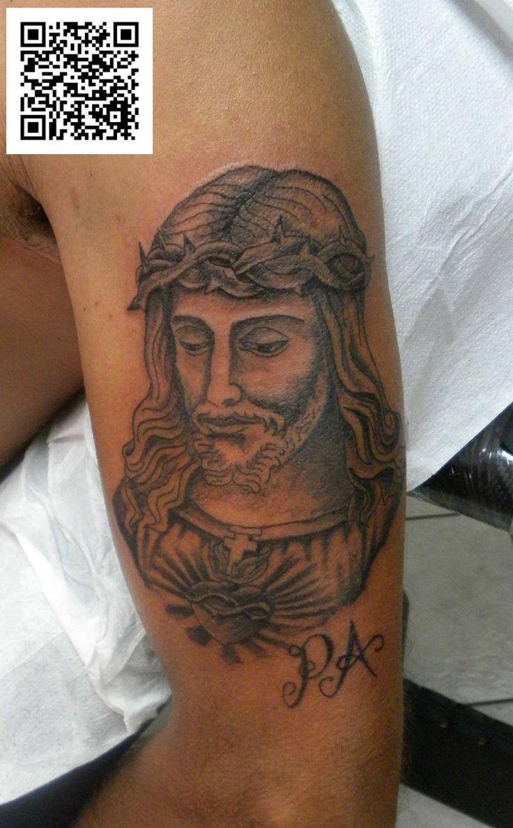 #cristo #grigio&nero #tatuaggio #montefortetattoo2016