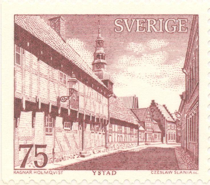 "Sweden 75ö ""City of Ystad"" 1974. Czeslaw Slania sc."