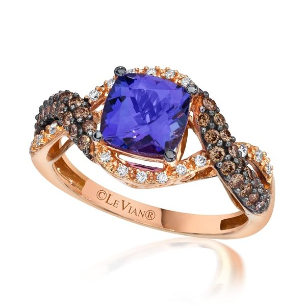 vanilla chocolate ring diamonds tw with le gold vian in bluberry strawberry tanzanite and